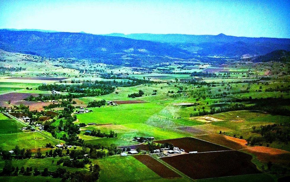 Aerial shot of 9Dorf Farms