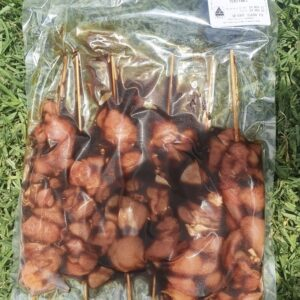A pack of 9Dorf Farms Pastured Chicken Kebab Teriyaki